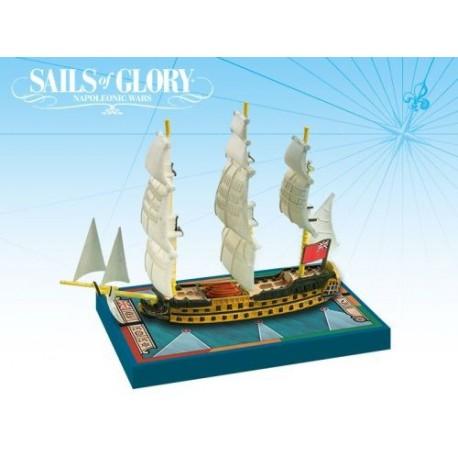 Sails of Glory - HMS Zealous Navío de línea británico 1785