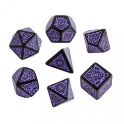 QW BLACK-PURPLE CALL OF CTHULHU DICE SET - HORROR ON THE ORIENT EXPRESS (7)