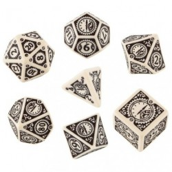 QW SET DADOS STEAMPUNK CLOCKWORK BEIGE (7)
