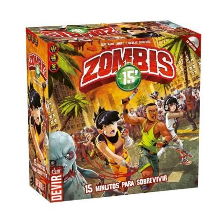 Zombies 15', juego de mesa Devir