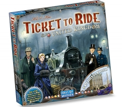 Table game Ticket to Ride with Uk and Pennsylvania maps