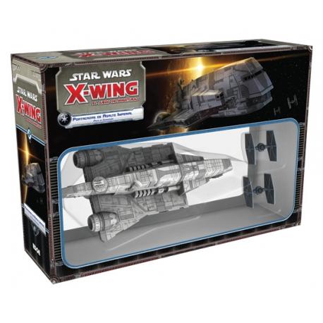 X-Wing: Portacazas Imperial es un pack de expansión para poder completar tu juego de miniaturas X-Wing de la Saga Star Wars