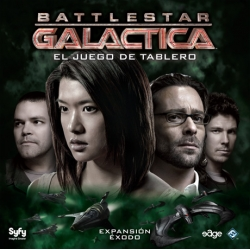 Exodus is an expansion to complete the basic cooperative table game Battlestar Galactica TV serie
