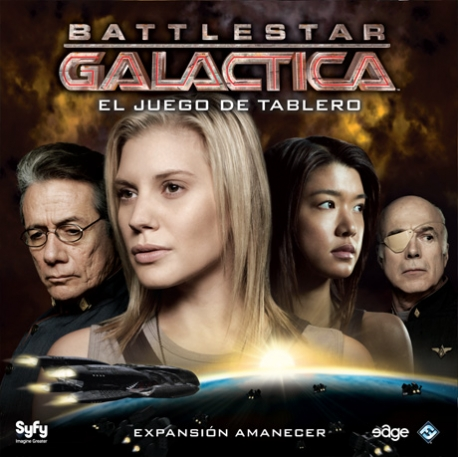 Daybreak is an expansion to complete the basic cooperative table game Battlestar Galactica TV serie