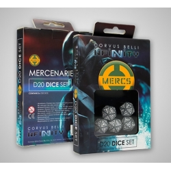 INFINITY - MERCENARIOS D20 SET DE DADOS (5)