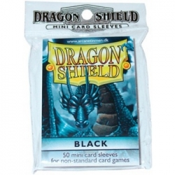 DRAGON SHIELD SMALL SLEEVES - BLACK (50 SLEEVES)