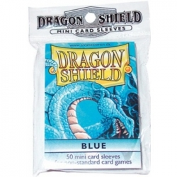 DRAGON SHIELD SMALL SLEEVES - BLUE (50 SLEEVES)