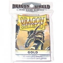 DRAGON SHIELD SMALL SLEEVES - GOLD (50 SLEEVES)