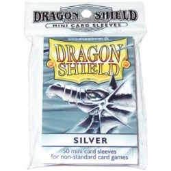 DRAGON SHIELD SMALL SLEEVES - SILVER (50 SLEEVES)