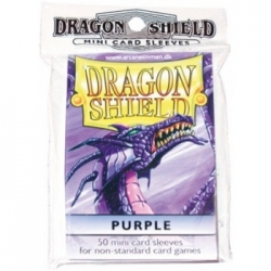DRAGON SHIELD SMALL SLEEVES - PURPLE (50 SLEEVES)
