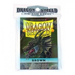 DRAGON SHIELD SMALL SLEEVES - BROWN (50 SLEEVES)