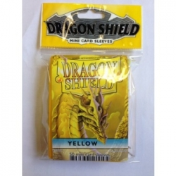 DRAGON SHIELD SMALL SLEEVES - YELLOW (50 SLEEVES)
