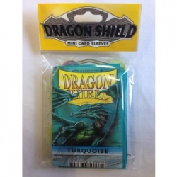 DRAGON SHIELD SMALL SLEEVES - TURQUOISE (50 SLEEVES)