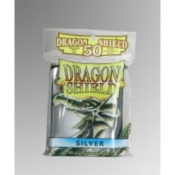 DRAGON SHIELD STANDARD SLEEVES - SILVER (50 SLEEVES)