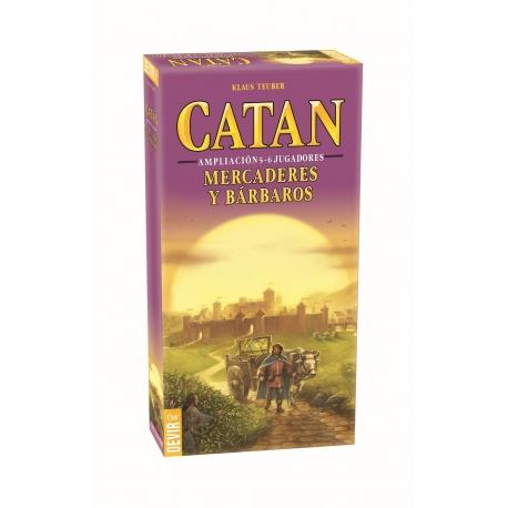 Expansión para Catan Mercaderes y bárbaros para poder jugar hasta 6 jugadores a la vez