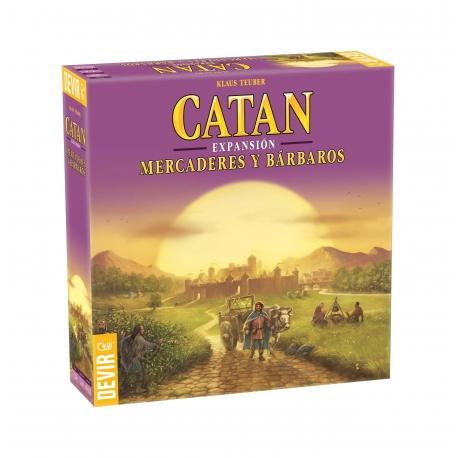 Mercaderes y Bárbaros expansión juego de mesa Los Colonos de Catan