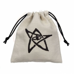 CALL OF CTHULHU DICE BAG WHITE