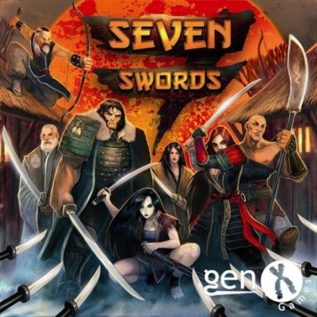 Juego de mesa Seven Swords de samuráis o bandidos de Gen X Games