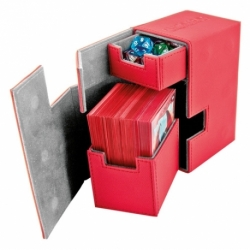 ULTIMATE GUARD FLIP´N´TRAY DECK CASE 80+ STANDARD SIZE XENOSKIN RED