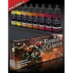 Set of 8 acrylic paints from Creatures From Hell to paint miniatures Scale 75