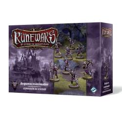 Este pack incluye todo lo necesario para añadir 1 unidad de Arqueros reanimados a tu ejército Runewars