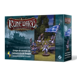 Espansión Runewars Grupo de mando de infantería de Daqan de Fantasy Flight Games