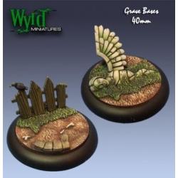 Graveyard 40mm Bases (2 Pack)