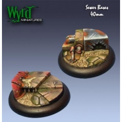 Sewer 40mm Bases (2 Pack)