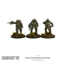 BRITISH ARMOURED INFANTRY PREVIEW PACK (3 FIG BLISTER)