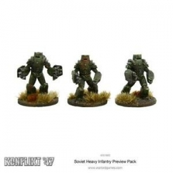 SOVIET HEAVY INFANTRY PREVIEW PACK (3 FIG BLISTER)