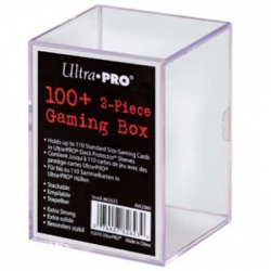 UP - 2-PIECE STORAGE BOX - FOR 100+ CARDS - CLEAR