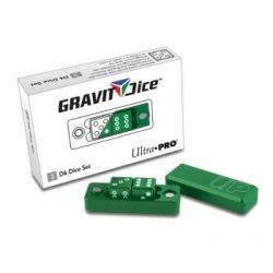 UP - GRAVITY DICE D6 - EMERALD - 2 DICE SET