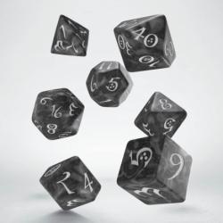 QW DADOS CLASSIC RPG SMOKY & WHITE SET (7)