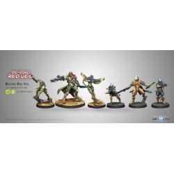 Novedad Infinity, Beyond Red Veil Pack Expansión + Figura Exclusiva juego de miniaturas