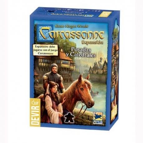 Carcassonne: Posadas y Catedrales es una expansión para completar el juego básico