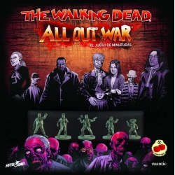 Caja básica The Walking Dead All Out War juego de miniaturas de Mantic Games y 2 Tomatoes