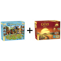 Game pack Plus from Devir: Carcassonne Plus 2017 and Settlers of Catan Plus 2019