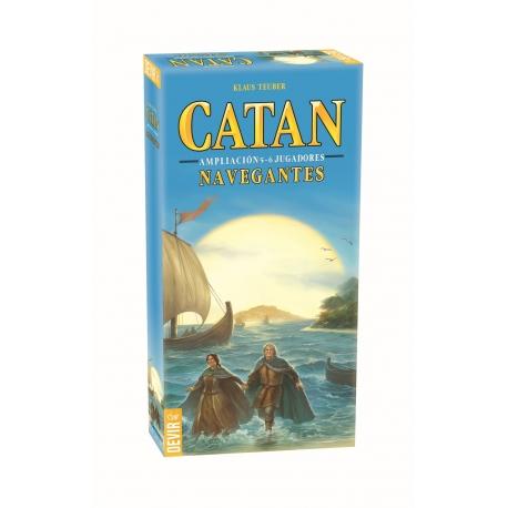 Expansión para 5-6 jugadores del juego Navegantes de Catan de Devir
