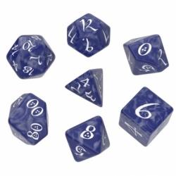 QW DADOS CLASSIC RPG COBALT & WHITE SET (7)