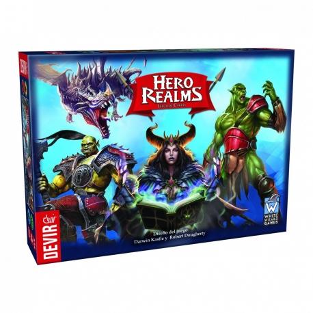 Hero Realms es un juego de construcción de mazos con temática de fantasía. Es una adaptación del galardonado juego Star Realms.