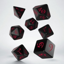 QW DADOS CLASSIC RPG BLACK & RED SET (7)