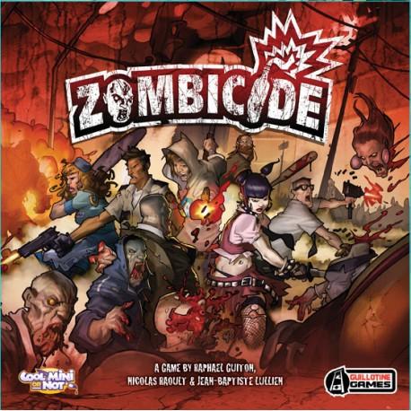 Tapa de la caja del juego de Edge Zombicide. Ciudad infestada de zombies.
