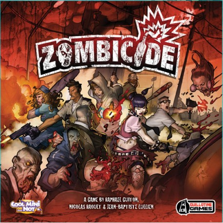 Box cover Zombicide Edge game. Zombie infested city.