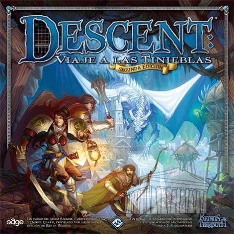Descent, Viaje a las tinieblas 2ª Edición juego de mesa colaborativo