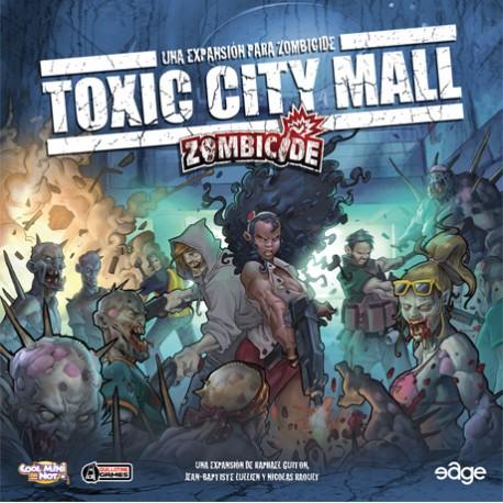 Tapa de la caja del juego de Edge Toxic city mall. Ciudad infestada de zombies.