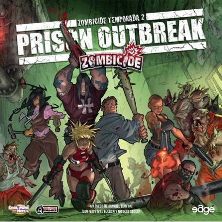 Tapa de la caja del juego de Edge Zombicide 2ª Temporada, Prison Outbreak