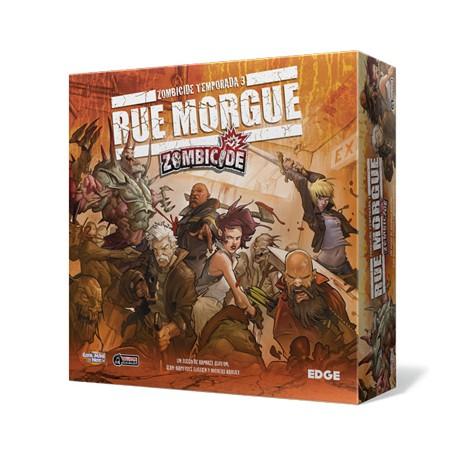 Tapa de la caja del juego de Edge Zombicide 3ª Temporada, Rue Morgue