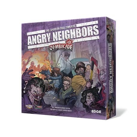 Tapa de la caja del juego de Edge Angry Neighbors. Ciudad infestada de zombies.