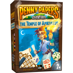 Juego de mesa familiar Penny Papers: El templo de Apikhabou