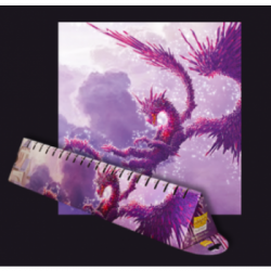 DRAGON SHIELD RACAN CLEAR PURPLE PLAYMAT